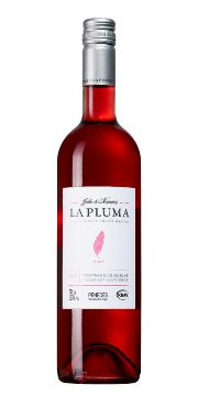 La Pluma Rosé, A very light rosé with a hint of strawberry, blackcurrant & mint