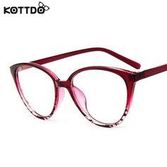adca54b6f Kottdo Fashion Women Cat Eye Eyeglasses Frame Men Optical Glasses Kt23 –  FuzWeb Retro, Sklad