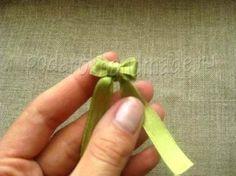 Creative Ideas - DIY Satin Ribbon Bow with a Fork 7