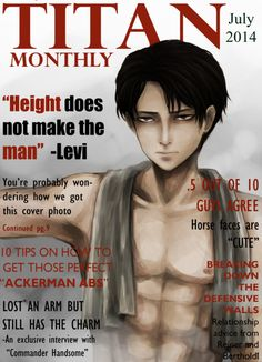 ❤havent posted in awhile here have a magazine levi