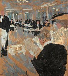 Édouard Vuillard - Cafe Scene