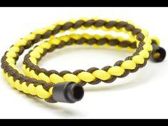 Make a 4 Strand Round Braid Necklace w/ Break-Away - BoredParacord.com - YouTube