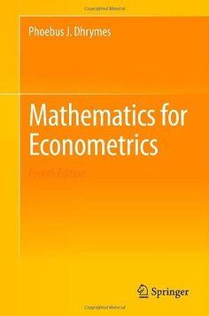 Mathematics for econometrics / Phoebus J. Dhrymes
