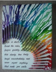 Awesome melted crayon painting