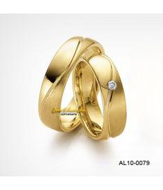 Aliança de casamento ouro amarelo 5,0 mm de largura AL10-0079-50
