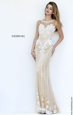 Beaded Sheer Gown by Sherri Hill 9737 by Sherri Hill