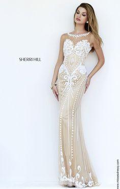 Beaded Sheer Gown by Sherri Hill 9737 by Sherri Hill