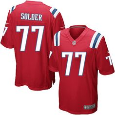 Nike Limited Nate Solder Red Youth Jersey - New England Patriots #77 NFL Alternate