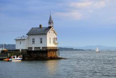 Lighthouse in the Oslo fjord, Norway