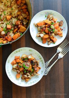 paleo sweet potato spicy chicken recipe | ahealthylifeforme.com