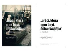 Graphics for the curriculum vitae of Milan Drobek