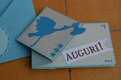 Card nascita, timbro de La Coppia Creativa
