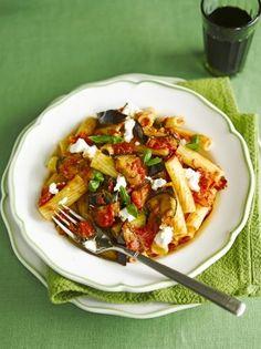 Pasta with Aubergine & Tomato Sauce   Pasta Recipes   Jamie Oliver