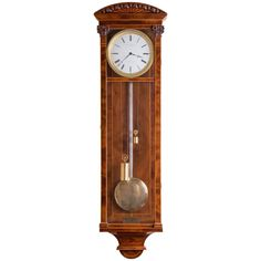 Biedermeier Wall Clock by Elsner and Petrovits, Vienna, circa 1840 | From a unique collection of antique and modern clocks at https://www.1stdibs.com/furniture/decorative-objects/clocks/