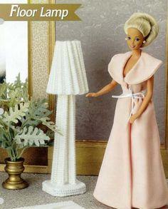 labores de esther. todo para barbie: Lampara para barbie