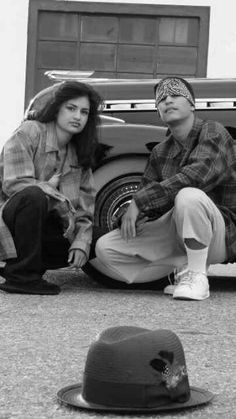 The dude looks good, her hair is a hot mess Chicano Love, Chicano Art, Lowrider, Chicano Studies, Latina, Old School Pictures, Chola Girl, Estilo Cholo, Cholo Style