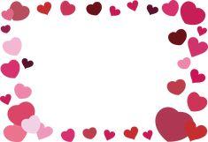 おすすめの商用利用可能な無料フレーム・枠素材 Notes Template, Templates, Drawing Frames, Valentines Art, Borders For Paper, Boarders, Background Images, Hearts, Clip Art