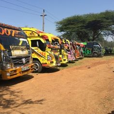 Matatus, the minibus taxis used by so many Kenyans to navigate the capital Nairobi, often Taxi, Kenya