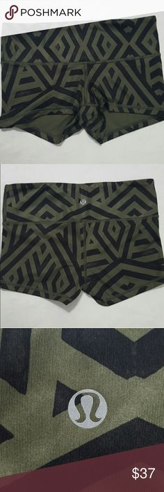 Lululemon Luxtreme Tribal Print Shorts These were purchased from another posher but unfortunately do not fit. They are a size 4, worn once and are in excellent condition! The pattern is a Tribal Print.  Price is firm unless bundled! lululemon athletica Shorts
