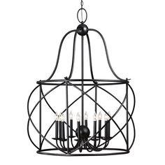 Sea Gull Lighting Turbinio Blacksmith Ten Light Lantern Chandelier On SALE