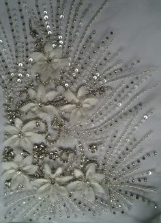 Embroidery...Beautiful embellishments to consider. Ask your dressmaker for suggestions.