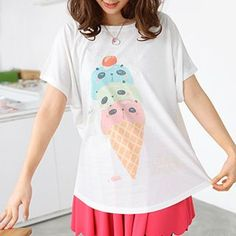 Buy 59 Seconds Panda-Faced Ice Cream Print T-Shirt at YesStyle.com! Quality products at remarkable prices. FREE WORLDWIDE SHIPPING on orders over US$ 35.