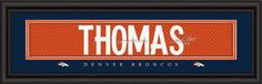 "Denver Broncos Demaryius Thomas Print - Signature 8""""x24"""" Z157-4865503763"