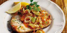 Σφυρίδα με πράσα, μάραθο και κολίαντρο Bruschetta, Ethnic Recipes, Food, Essen, Meals, Yemek, Eten