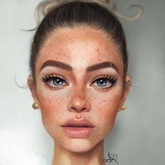 ArtStation - Anne Novik Digital Art Girl, Digital Portrait, Photo Portrait, Portrait Art, Portraits, Different Drawing Styles, Facial Expressions Drawing, Digital Art Tutorial, Model Face