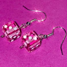 Barbie girl earrings Yes they also come in pink! So cute :( and just imagine wearing all black with these or wearing baby blue and baby pink little dice on your ears omg🦄🍬 for the pair! To shop, get online (link in bio) Neo Grunge, Soft Grunge, Grunge Style, Rainbow Aesthetic, Aesthetic Collage, Aesthetic Grunge, Aesthetic Vintage, Aesthetic Pastel, Aesthetic Gif