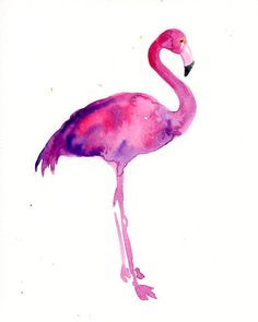 FLAMINGO Original watercolor painting 8x10inch(Vertical orientation)