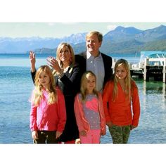 Queen Maxima and King Willem-Alexander and Princess Amalia and Princess Alexia and Princess Ariane pose for the media, before spending the Christmas holiday, at the Bosque de Arrayanes at the national parque los Arrayanes at Villa La Angostura ( Bariloche) in Argentina. New photo of the Dutch Royal Family. The King, the Queen and their daughters are currently in Argentina, where the new photos were taken