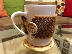 Ravelry: Mug Cozy pattern by B. Cup Sleeve, Coffee Sleeve, Mug Cozy Pattern, Crochet Coffee Cozy, Free Crochet, Ravelry, Crochet Patterns, Mugs, Cup Cozies