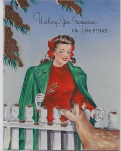 Old Christmas Post Сards — Vintage Christmas Lady, Old Time Christmas, Ghost Of Christmas Past, Christmas Post, Old Fashioned Christmas, Christmas Deer, Merry Christmas, Christmas Glitter, Christmas Scenes, Holiday Time