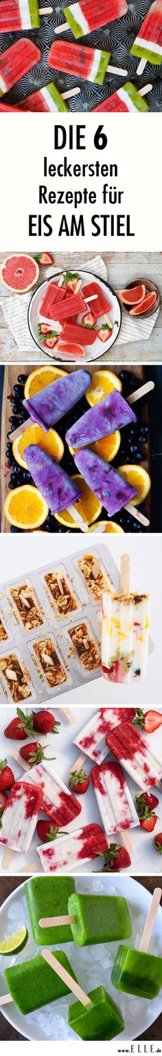 Es ist der erfrischendste Trend des Jahres: selbstgemachtes Eis am Stiel. Wir v… It's the refreshing trend of the year: homemade popsicles. We reveal our six favorites and deliver the recipes at the same time. Homemade Lollipops, Homemade Popsicles, Thanksgiving Crafts For Kids, Kids Crafts, Kids Diy, Summer Dessert Recipes, Frozen Yoghurt, Festa Party, Snacks Für Party