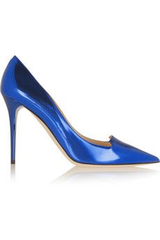 Jimmy Choo Avril mirrored-leather pumps | NET-A-PORTER