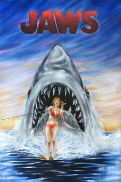 Jaws Movie Concept wallpapers Wallpapers) – Wallpapers For Desktop Jaws Film, Jaws Movie, Jaws 2, Horror Movie Posters, Movie Poster Art, Horror Movies, Film Posters, Shark Pictures, Horror Photos