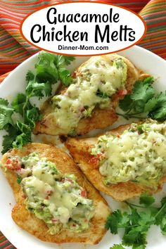 Guacamole Chicken Melts provide almost instant gratification. They're low-carb keto-friendly use one pan and are ready in 20 minutes. Easy recipe for guac lovers! No Carb Recipes, Low Carb Dinner Recipes, Curry Recipes, Vegetarian Recipes, Cooking Recipes, Healthy Recipes, Healthy Meals, Vegetable Recipes, Free Recipes