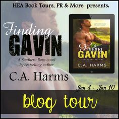 BLOG TOUR & REVIEW - Finding Gavin by C.A. Harms - 4 out of 5 (very good), #Contemporary #Romance, HEA Book Tours, Merissa, #Western  (January)