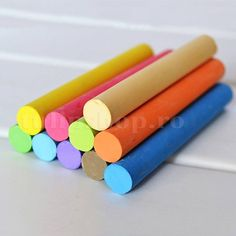 10 pcs/set Korea Colorful Chalk Dust-free Chalk Pen Non-toxic Dustless Box Chalks for Kids School Stationery Supplies Snack Station, Colored Chalk, Chalk Pens, School Stationery, Blackboards, Office And School Supplies, Marker, Baby Shower, Pure Products