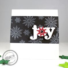 Kerrianne Gwin for Wplus9 featuring Folk Art Flurries stamp set and Season Sentiments die.