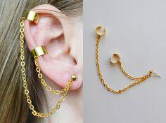 Kpop Earrings, Wing Earrings, Chain Earrings, Etsy Earrings, Ear Jewelry, Cute Jewelry, Antique Jewellery Designs, Accesorios Casual, Hanging Earrings