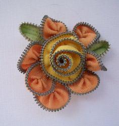 Zipper Flower from Etsy