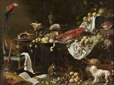 Adriaen van Utrecht, Pronk Still Life, 1644, oil on canvas, 185cm × h b 242,5cm. On loan from the City of Amsterdam (bequest A. van der Hoop), 1885 - SK-C-301. Rijksmuseum, Amsterdam.  http://storage.canalblog.com/55/72/119589/109006543_o.jpg
