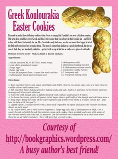 I usually make these at Christmas time, maybe I'll have to make them for Easter too! Greek Desserts, Greek Recipes, Greek Meals, Easter Cookie Recipes, Easter Cookies, Greek Cookies, Yummy Cookies, Midevil Food, Koulourakia Recipe