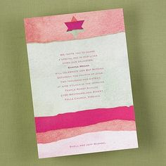 Her Star of David - Invitation    | 40% OFF  |  http://mediaplus.carlsoncraft.com/Parties--Celebrations/Bar--Bat-Mitzvah-Invitations/3125-BA9253S8I-Her-Star-of-David--Invitation.pro