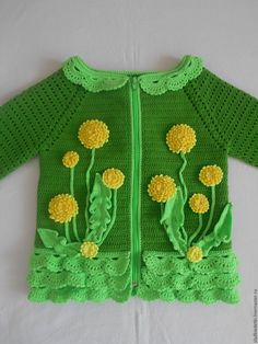 My Crochet Dream Gilet Crochet, Knitted Baby Cardigan, Knit Baby Sweaters, Knit Crochet, Irish Crochet, Kids Knitting Patterns, Knitting For Kids, Crochet For Kids, Baby Knitting