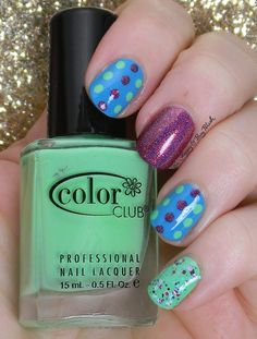 Dotticure Skittlette NOTD | Be Happy And Buy Polish http://behappyandbuypolish.com/2015/05/04/dotticure-skittlette/