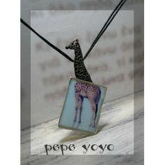 καμηλοπάρδαλη , χειροποίητο ασημένιο μενταγιόν Pendants, Hang Tags, Pendant, Charms