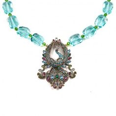 """""""Flaunt Your Feathers"""" Crystal Drop Necklace ~ Heidi Daus"""